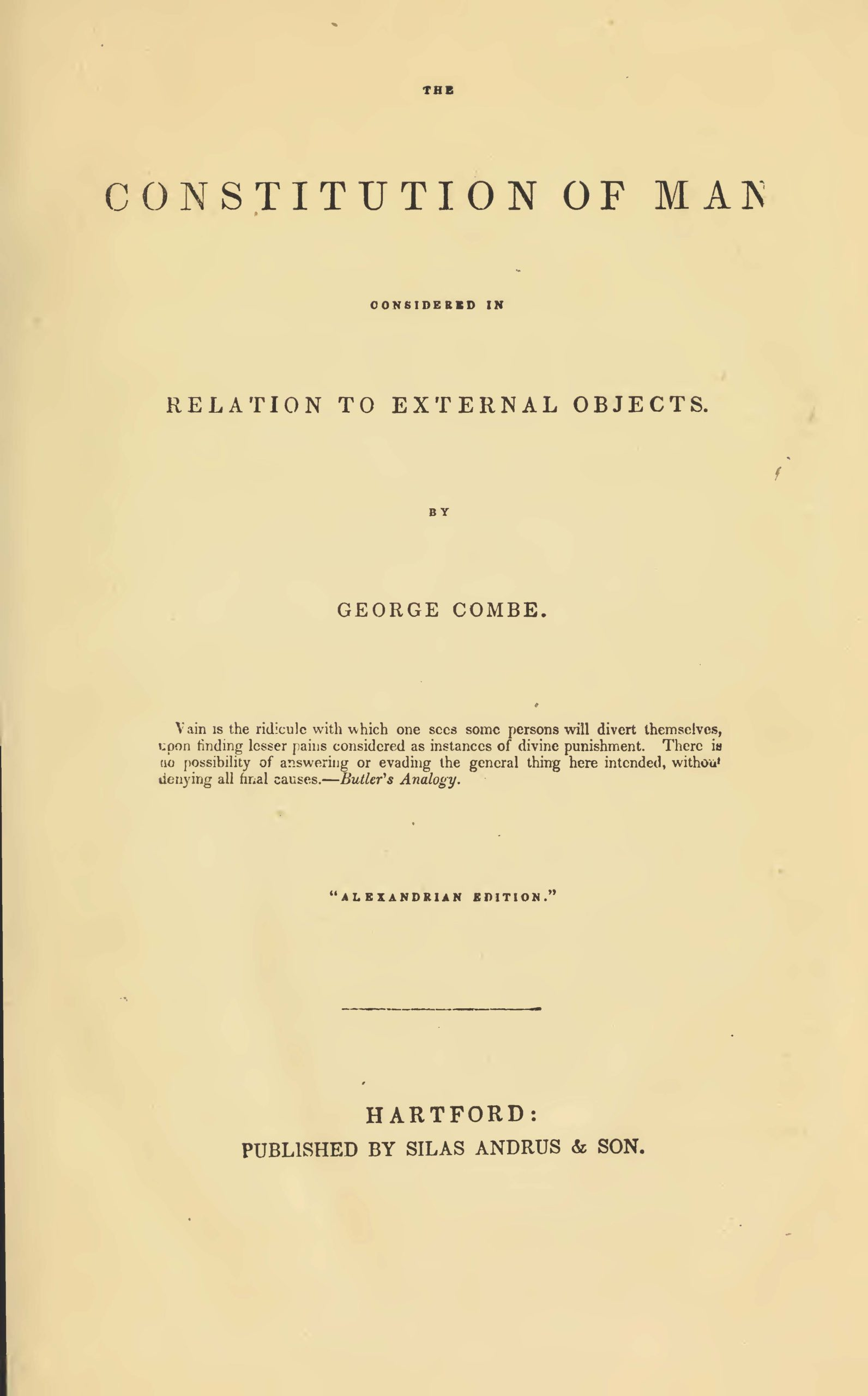 Combe - The Constitution of Man